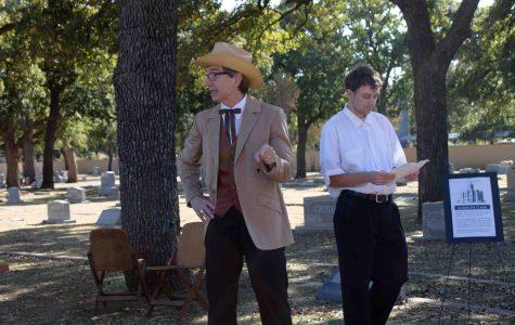 Spirits of Erath Cemetery Walk benefits library
