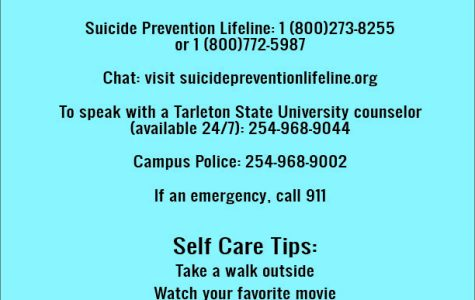 Tarleton Counseling Center offers suicide prevention resources