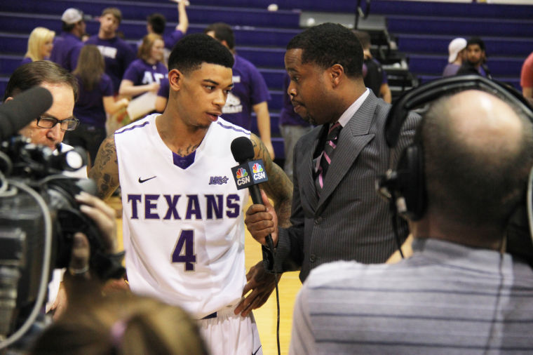 The Texans defeated Texas A&M-Kingsville 94-58.