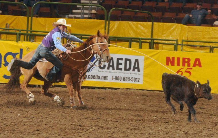 Tarleton senior Billy Bob Brown was crowned this years reserve champion All-Around Cowboy at the 2014 College National Finals Rodeo. Brown, along with partner Logan Medlin of Eastern New Mexico University, also defended their national team roping title.