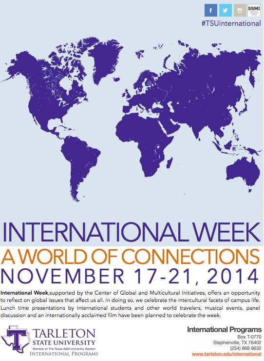 Tarleton State Campus Map.International Week To Begin Nov 15 The Jtac