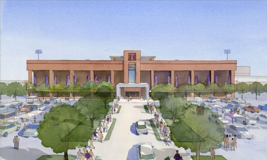 Rendering of proposed renovations to Memorial Stadium.