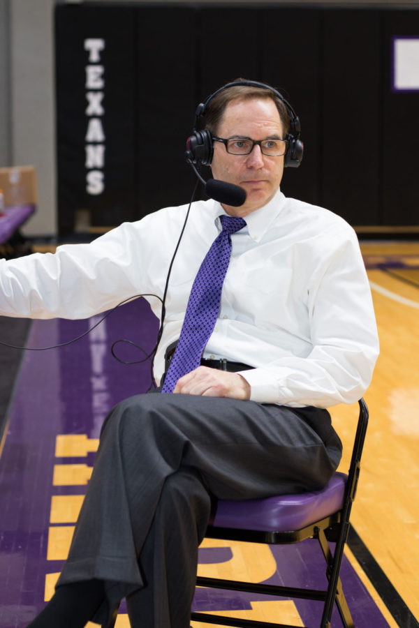 Coach Riesman during a post game interview