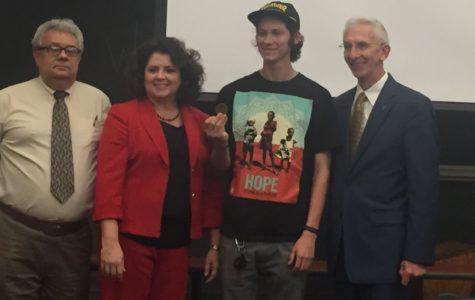 Tarleton student awarded civility Core Values coin