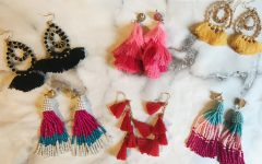 Tassle earrings bought at Walmart by Duran to add something fun to her outfits.