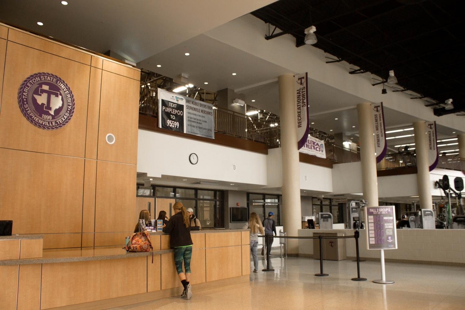 The entryway of the Rec Center.