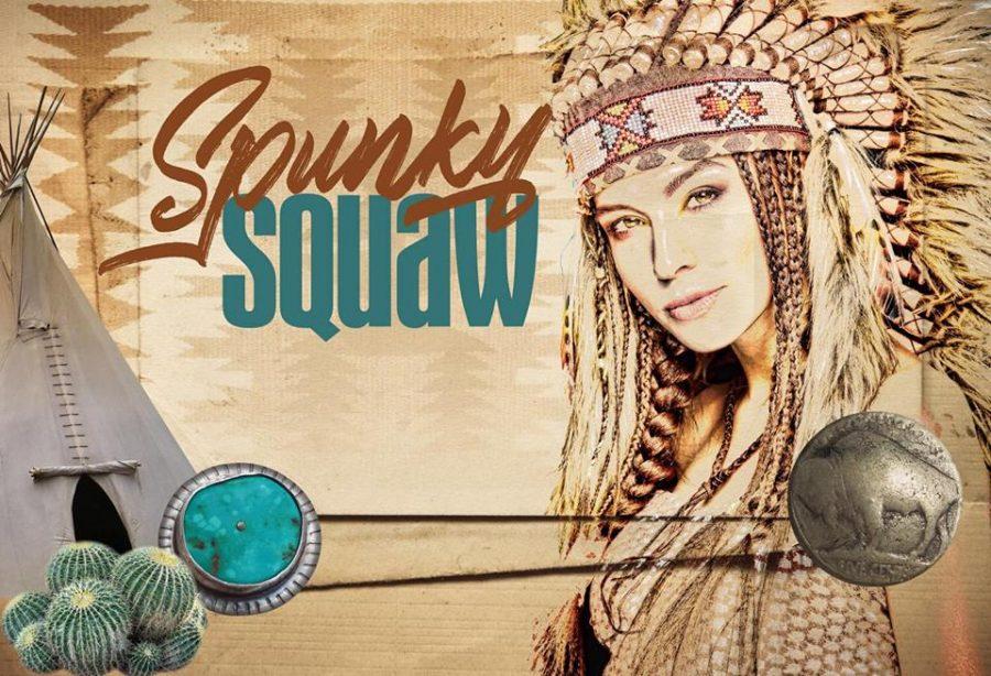 The original logo of The Spunky Squaw.
