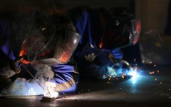 The welding photo that got Lauren Gajdica fifth place which was placed in a gallery in New York City.