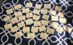 LLC's create Post-It's of positivity to encourage and inspire residents