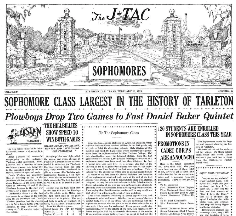 The February 16, 2019 Sophmore Issue of The JTAC.