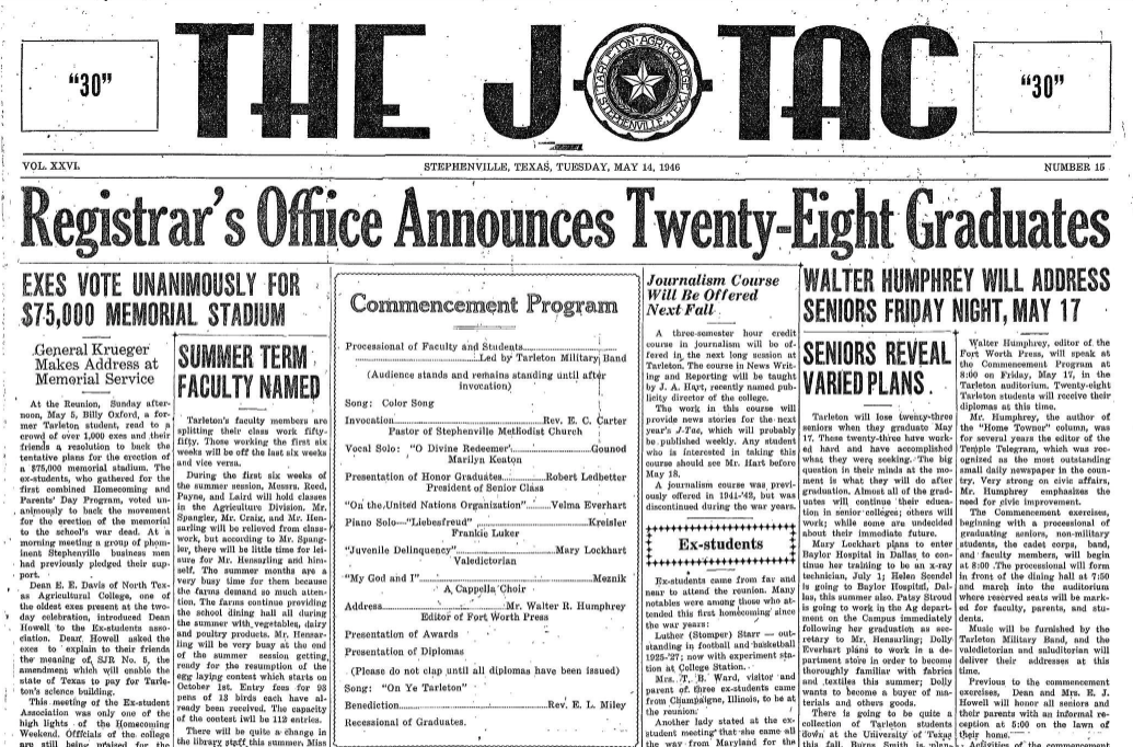 May 14, 1946 issue of The JTAC