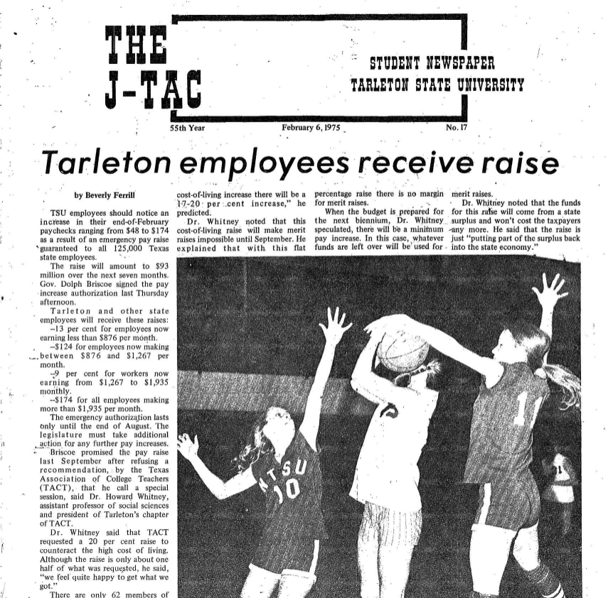 Feb. 6, 1975 issue of The JTAC