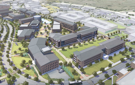 Aerial over view of the design for the new Tarleton Forth Worth campus.