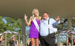 Dalton Lopez and Hannah McManus are crowned Lord and Lady Tarleton at the 2019 Founder's week festivities during the May Fete celebration.
