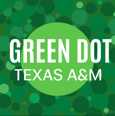 The green dot training logo. This training is given across the Texas A&M system.