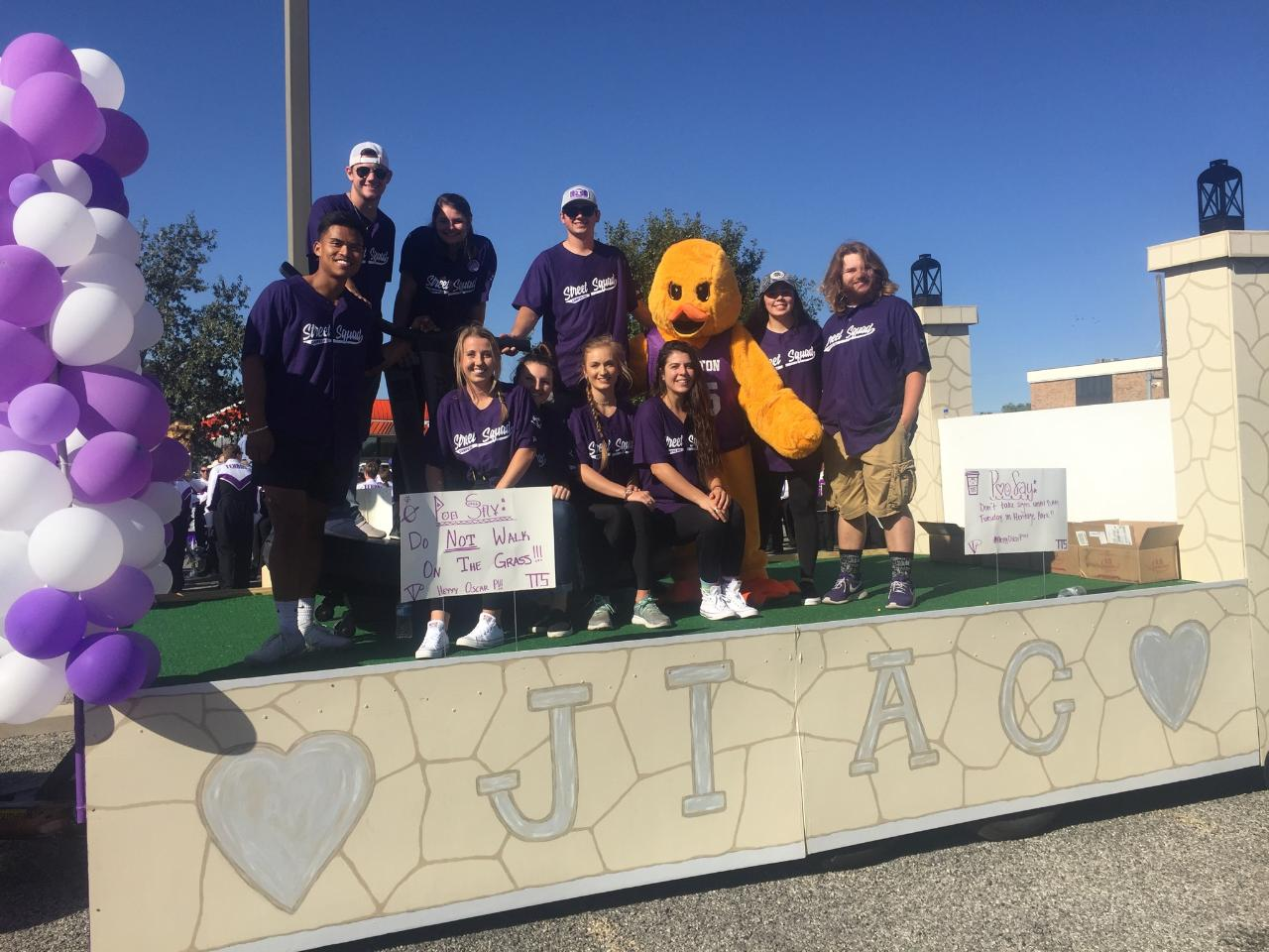 Oscar P debuted his new look during the Exercise is Medicine® On Campus Mascot Challenge video released last week (Oct. 13). Keeping with the theme, Oscar P rode the Campus Recreation float during the 2019 Homecoming parade.