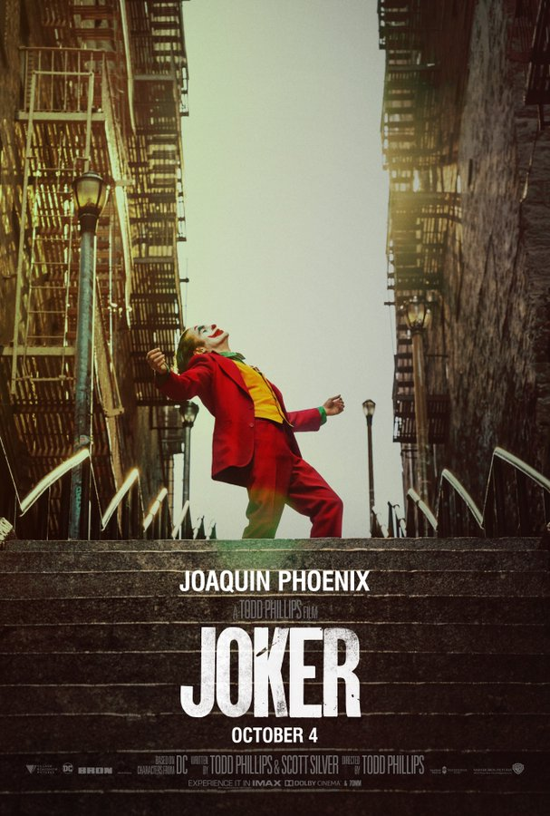 The movie poster for the controversial movie The Joker.