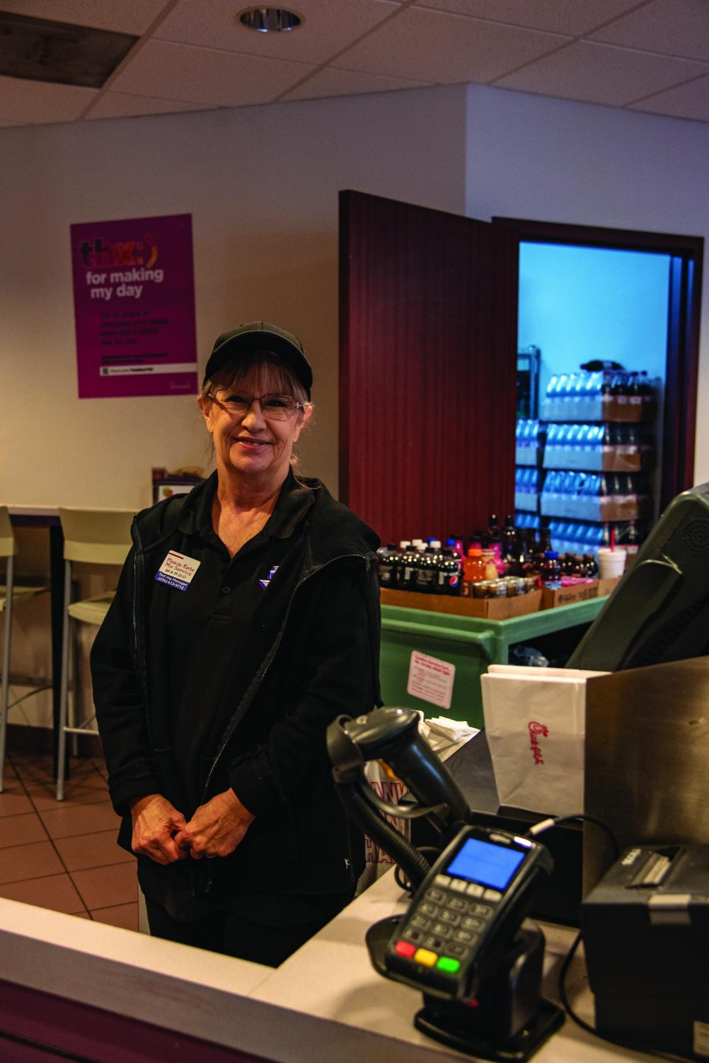 Margo is a Sodexo employee and is a favorite among students at the Texan Star Food Court found in the Barry B. Thompson Student Center.