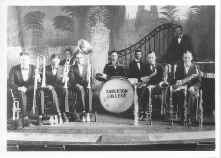 The Tarleton band has grow over the past 100 years from the original nine members to over 150 member
