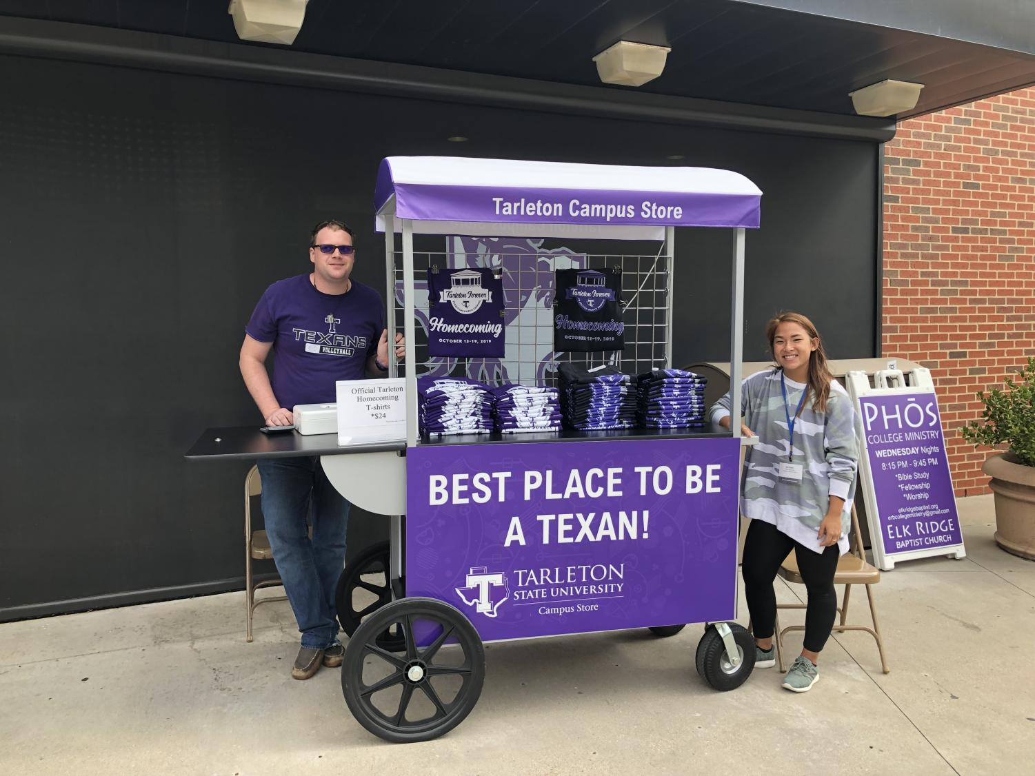 Tarleton's campus store will have their mobile cart outside of the dining hall every Thursday from 11 a.m. to 2 p.m.