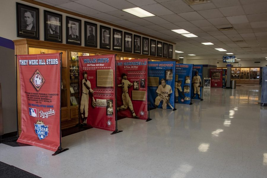 The exhibit features an overview of information about the Negro Leagues. It highlights the 20 players who began their careers in the Negro Leagues then went on to play for the Major Leagues and were eventually selected for the Major League All-Star game.