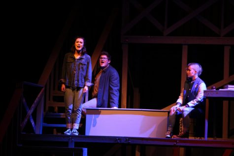"""Rebecca Franko, Cameron Bishop and Jenna Townsend in """"Next to Normal."""""""
