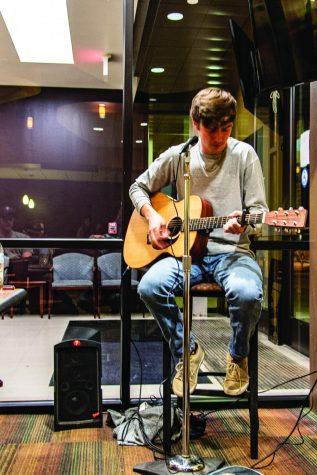 Konnor Green preformed at the Late Night at the Grill, on Feb. 12. This is a part of a new initiative Sodexo is hosting that includes entertainment during Late Night at the Grill.