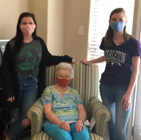 Klaire and Whitney Brock wear masks to make sure their grandmother stays safe during the COVID-19 pandemic.