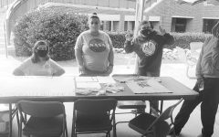 Members of Tarleton's GSA hosting a tabling event for recruitment on Oct. 22, 2020 outside of the Barry B. Thompson Student Center. information can be found on their Facebook page @tarleton.gsa or on their Twitter @tarletongsa