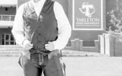 Junior Walker Kirk, stands proud as the new Texan Rider.