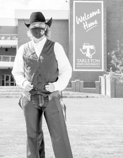 Junior Walker Kirk, stands proud as the new Texan Rider.