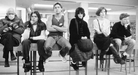 Bernie photoshopped into the famous library scene from The Breakfast Club.