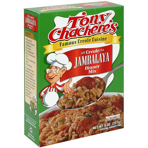 Tony's boxed Jambalaya mix.