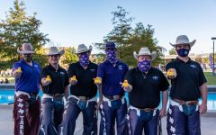 Tarleton Plowboys at the Launching of the ducks during Tarleton's spirit week in the fall of 2020.