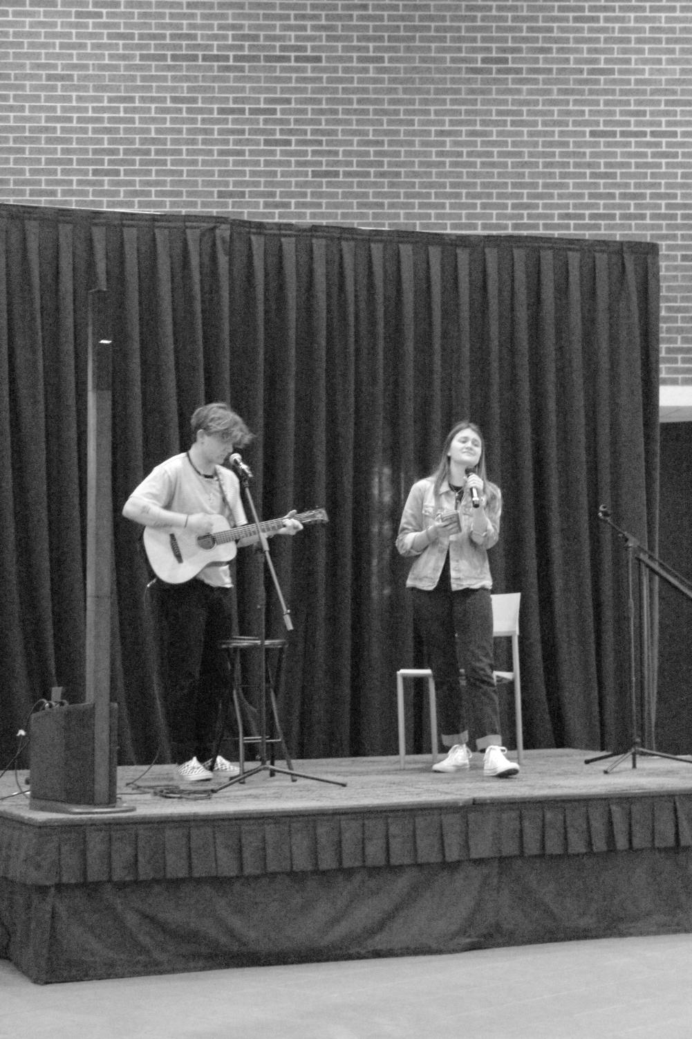 Katherine Pizer and John David Dvorak auditioning for Tarleton's got Talent by singing The Blessing by Kari Jobe and Cody Carnes on Feb. 25, 2021.