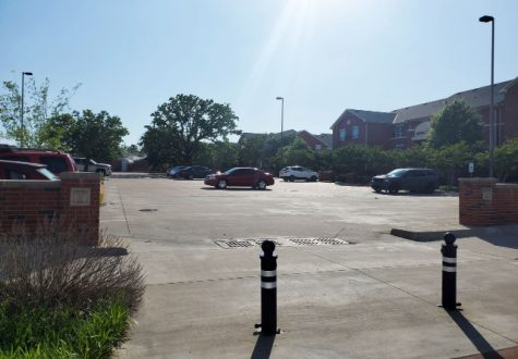 The parking lot located across from the Barry B. Thompson student center is a blue lot. Blue lots are faculty and staff parking lots, there are also multiple Green lots across campus open to all.