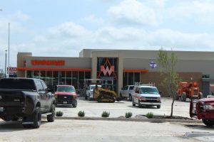 The new Whataburger store is located just across the street from the old store on W Washington street. Construction on the new store is expected to be completed this summer.